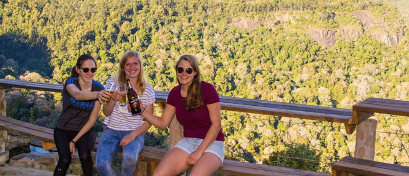 Backpackers in Hogsback