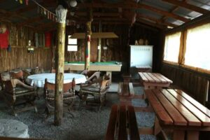 Trekkers lounge with pool table and pub