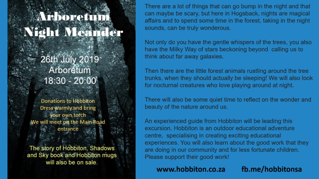 DOn't miss the Arboreetum Night Meander at the #winter #hogsbackcelebrations