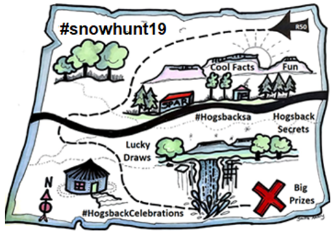 Our #snowhunt19 village wide scavenger hunt