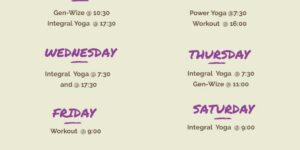 Simplesense yoga schedule