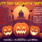 Halloween party at Happy Hogs