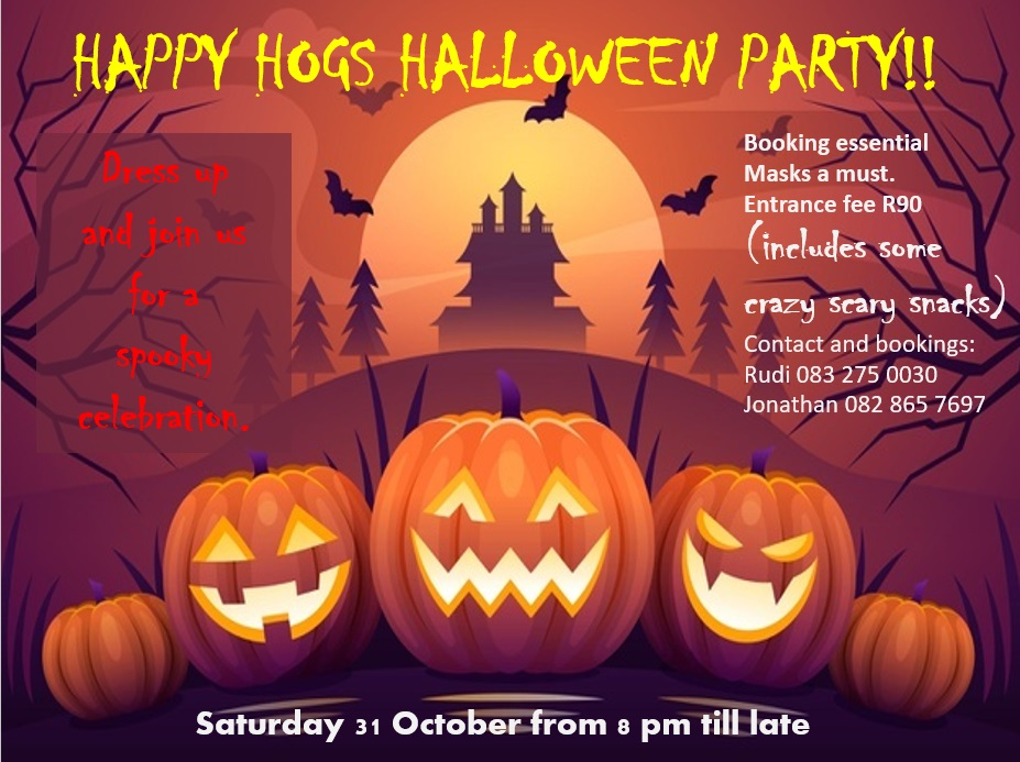 Halloween party at Happy Hogs in Hogsbackhhhalloween2020