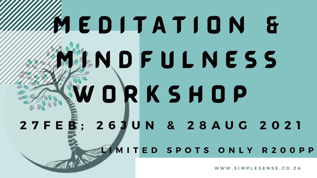 Meditation and mindfulness workshop